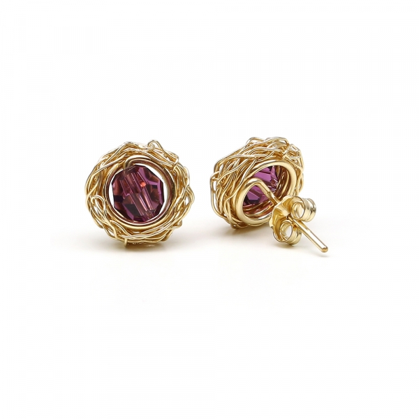 Sweet Amethyst - stud earrings