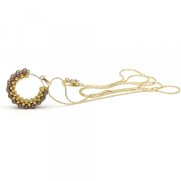 Swarovski pearls pendant for women - Primetime Pearls Velvet Brown