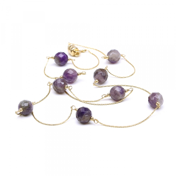 Handmade necklace for women - purple gems - Amethyst necklace