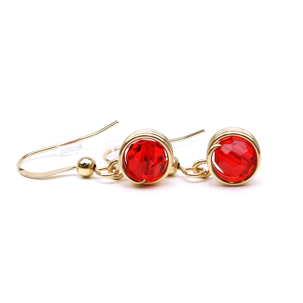 Swarovski crystal earrings for women - Busted crystal Light Siam