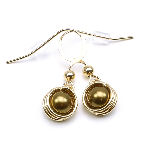 Pearls earrings for women - Busted Pearls Antique Brass