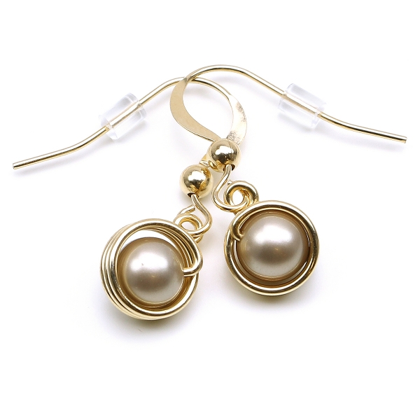 Earrings by Ichiban - Busted Pearls Platinum