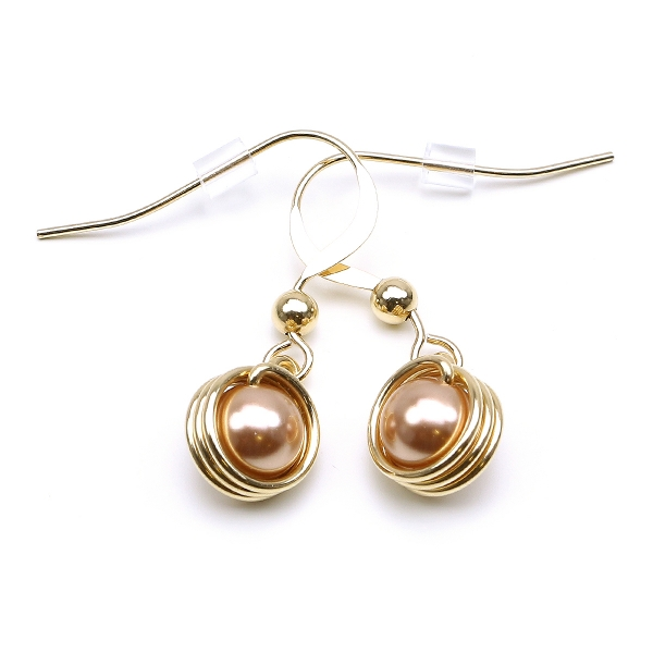 Earrings by Ichiban - Busted Pearls Rose Gold