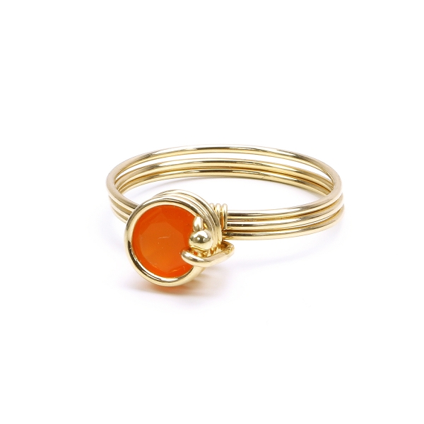 Ring by Ichiban - Busted Gemstone Deluxe Carnelian