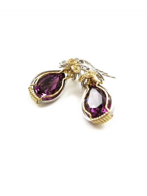 Dangle earrings by Ichiban - Royal Amethyst