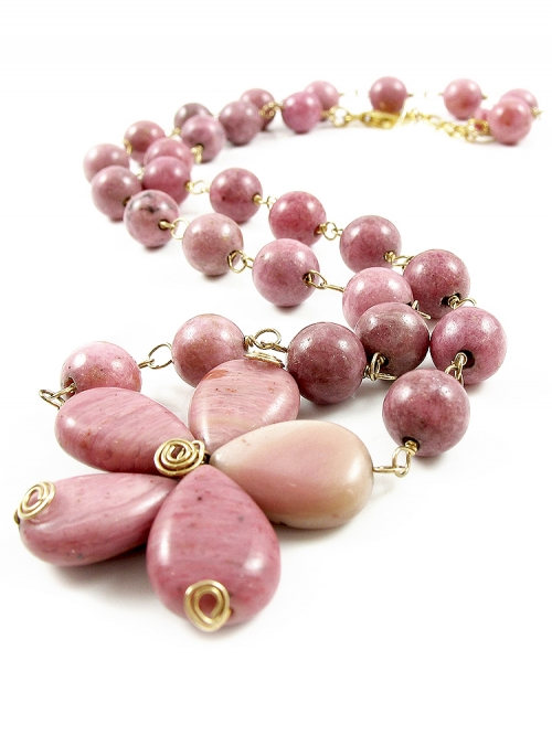 Rhodonite - necklace