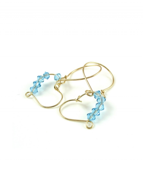 Earrings by Ichiban - Love Blue
