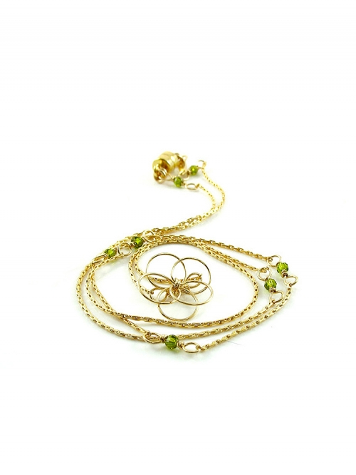 Flower Power Olivine - necklace