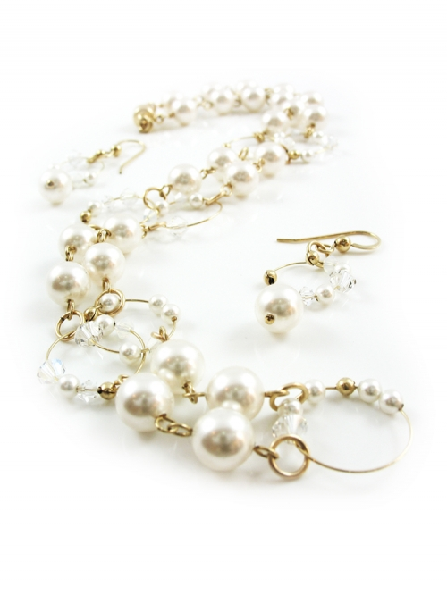 Bloom Bride set - necklace and earrings