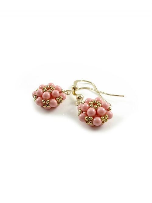 Daisy Pink Coral - earrings