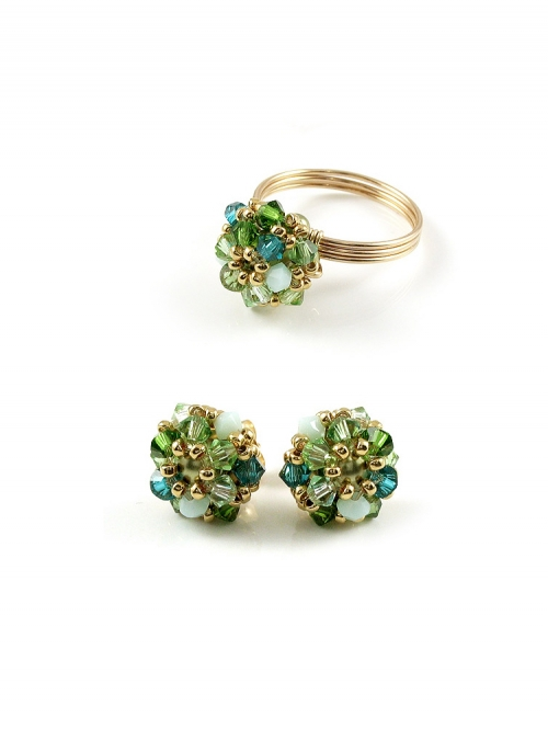 Set ring and stud earrings by Ichiban - Daisies Herba Fresca
