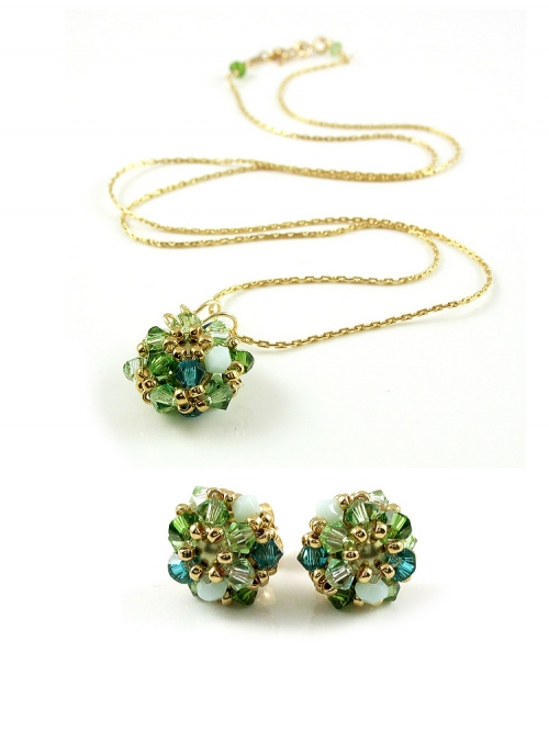 Set pendant and earrings by Ichiban - Daisies Herba Fresca