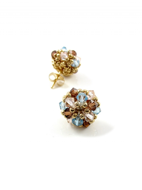 Daisies Desire Bronze - earrings