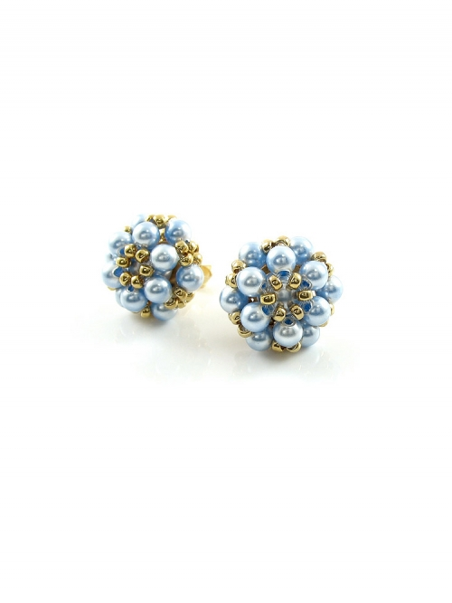 Daisies Light Blue - earrings