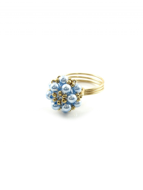 Daisies Light Blue - ring