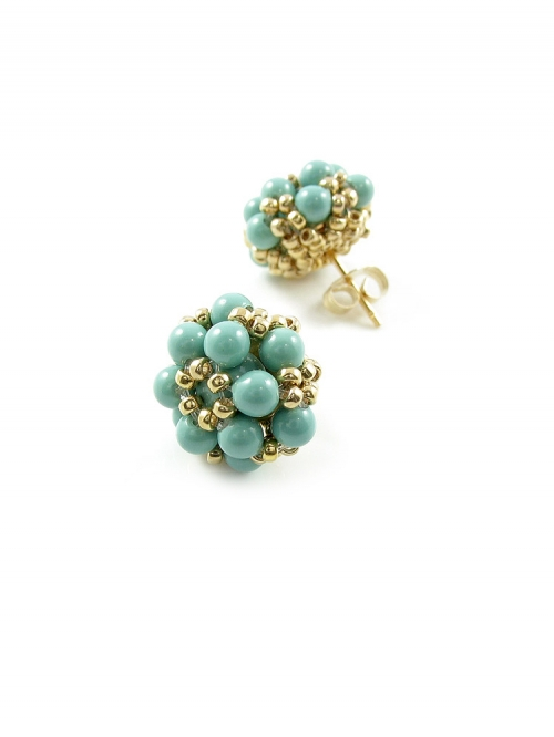 Daisies Jad - earrings