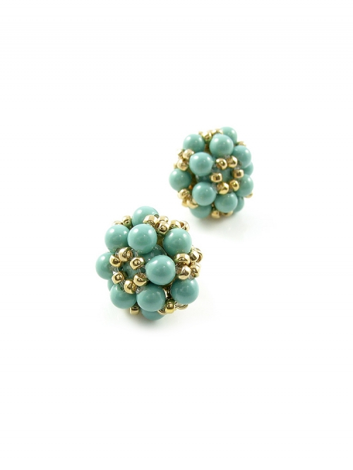 Stud earrings by Ichiban - Daisies Jad
