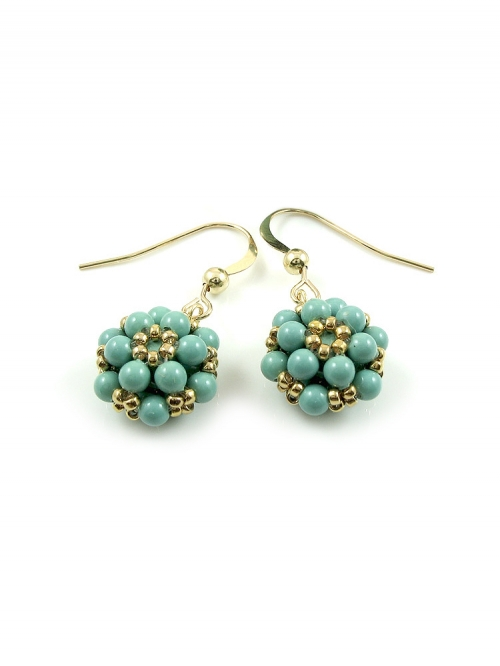 Dangle earrings by Ichiban - Daisies Jad