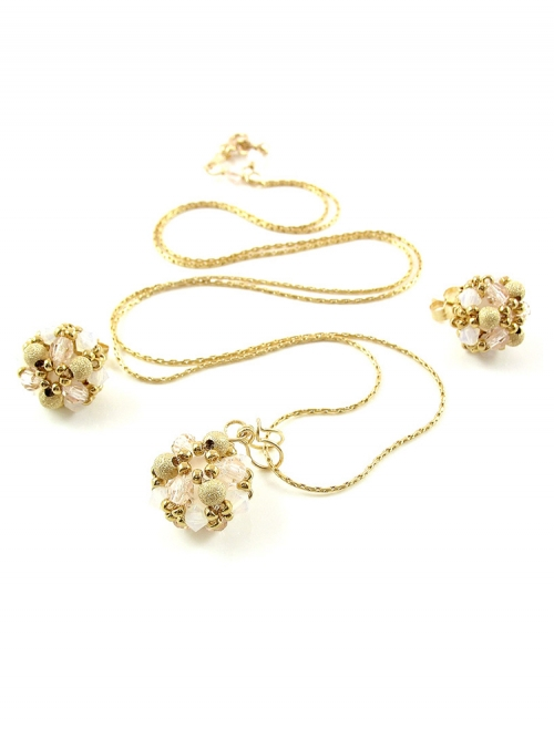 Daisies Ivory set - pendant and earrings