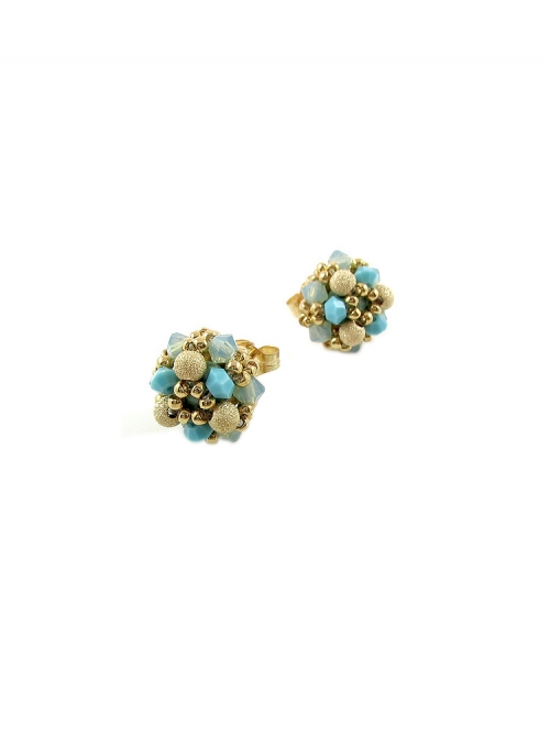 Daisies Stardust Turquoise - earrings