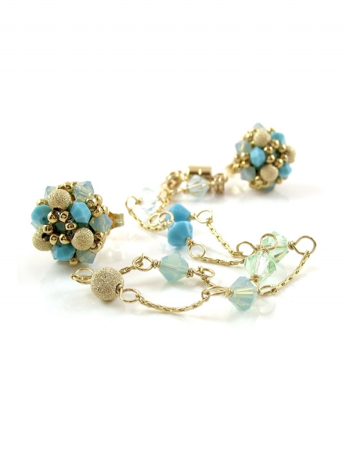 Stardust Turquoise set - bracelet and earrings