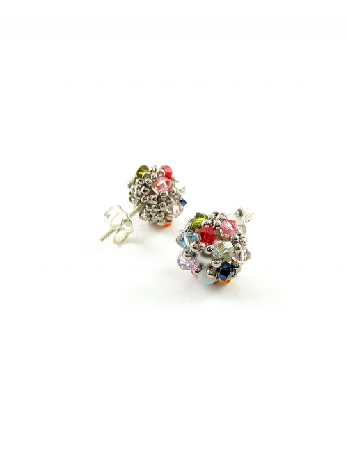 Daisies Multicolor Light - stud earrings