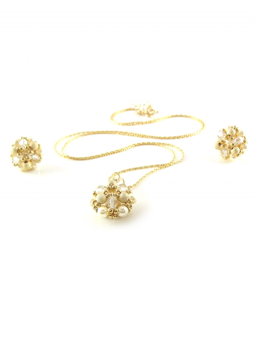 Daisies Stardust set - pendant and earrings