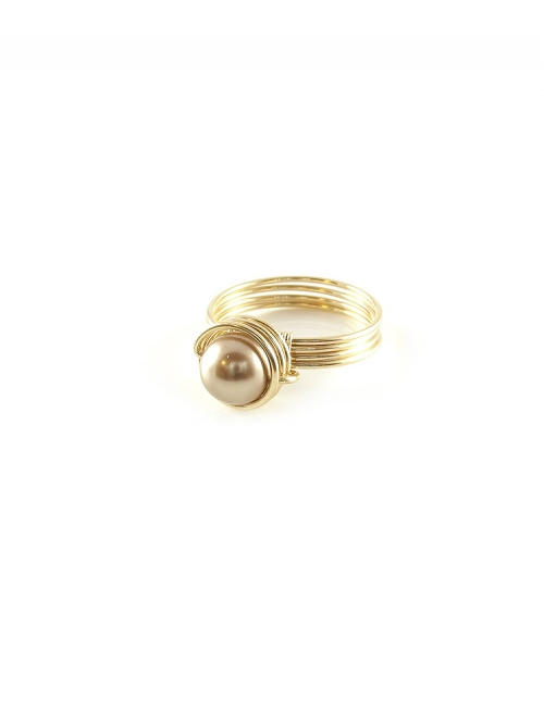 Busted Pearl Bronze - ring