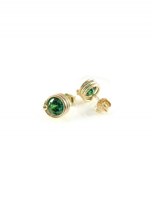 Busted Emerald - earrings