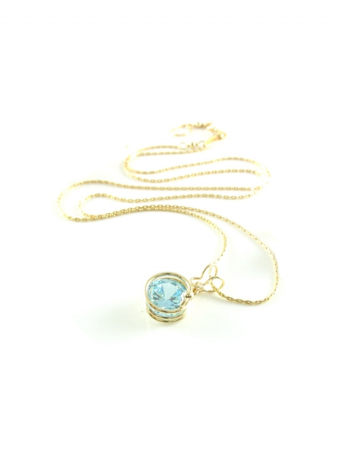 Busted Light Blue - pendant