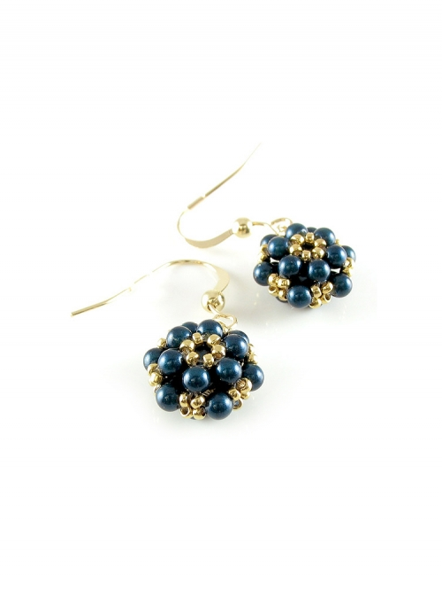 Daisies Petrol - earrings