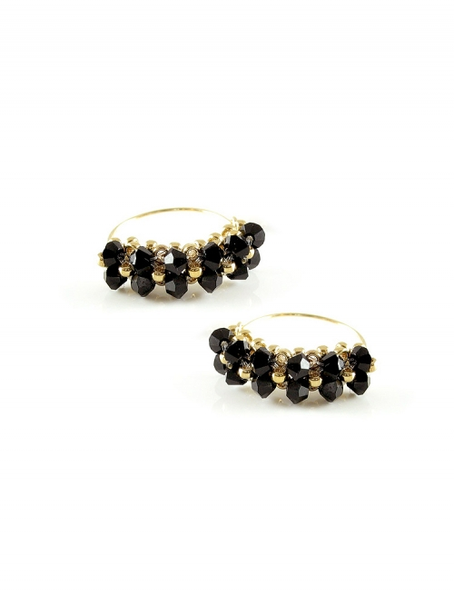 Minidiva Black - earrings