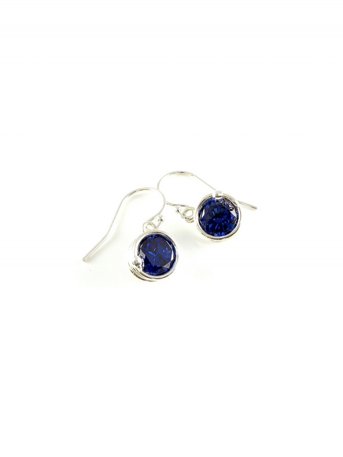 Busted Silver Dark Blue - earrings
