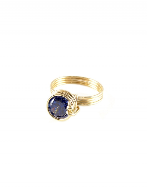 Busted Dark Blue - ring