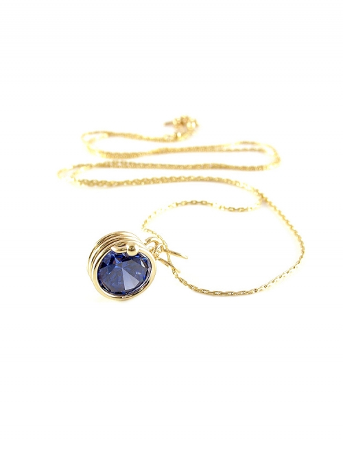 Busted Dark Blue - pendant