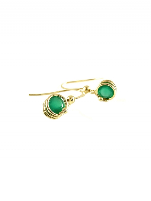 Busted Deluxe Green Onyx - earrings