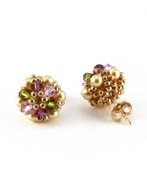 Stud earrings by Ichiban - Daisies Happy Royal