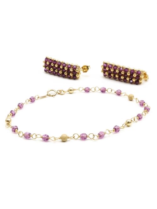 Executive Amethyst set - bracelet and earrings