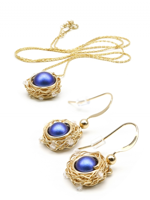 Sweet Night set - pendant and earrings