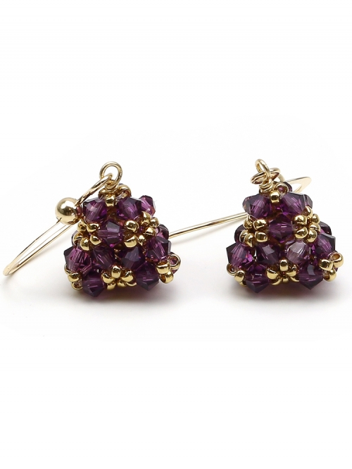 Pyramid Amethyst - earrings