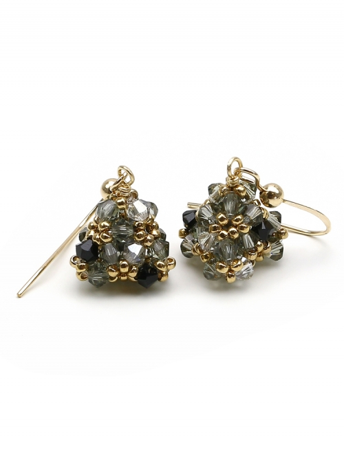 Pyramid Black Diamond - earrings