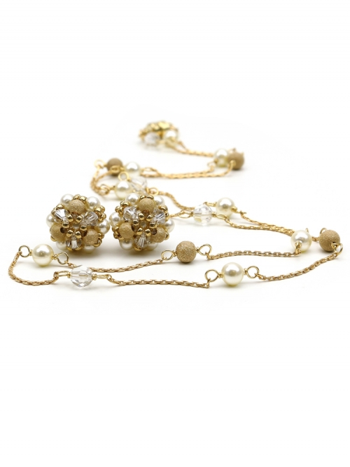 Daisies Fineline set - necklace and earrings