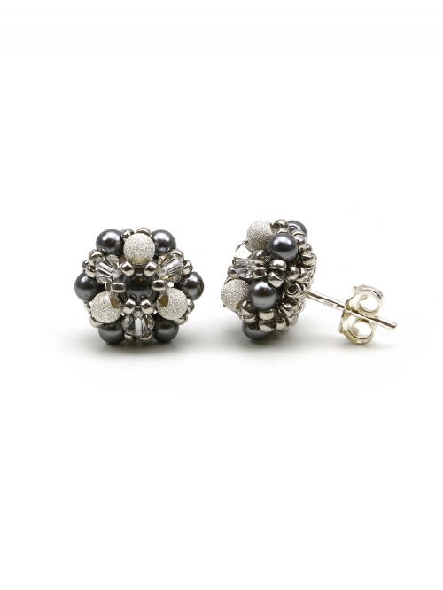 Stud earrings by Ichiban - Daisies FashionIT 925 Silver