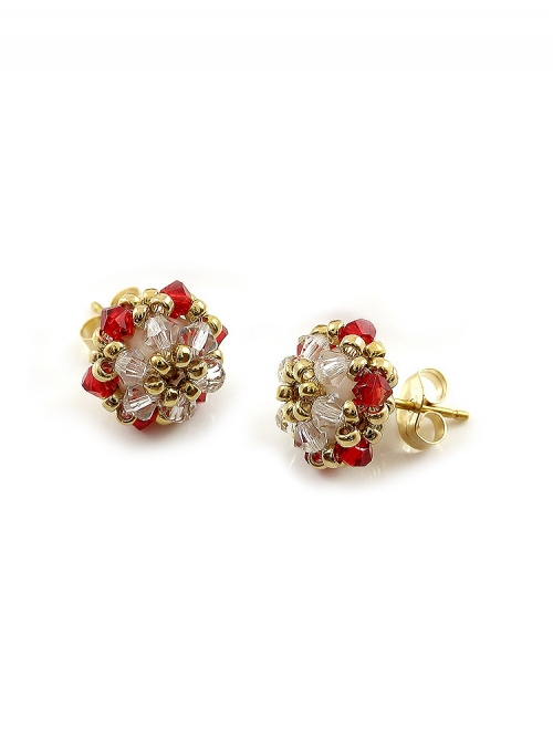 Minidaisies Light Siam - stud earrings