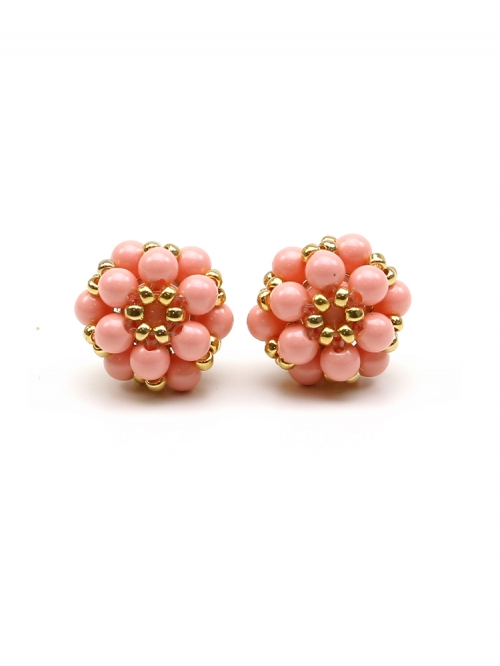 Stud earrings by Ichiban - Daisies Pink Coral