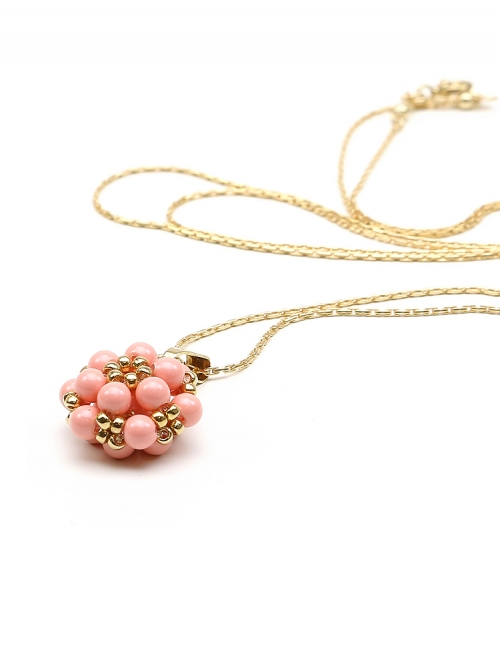 Daisies Pink Coral - pendant