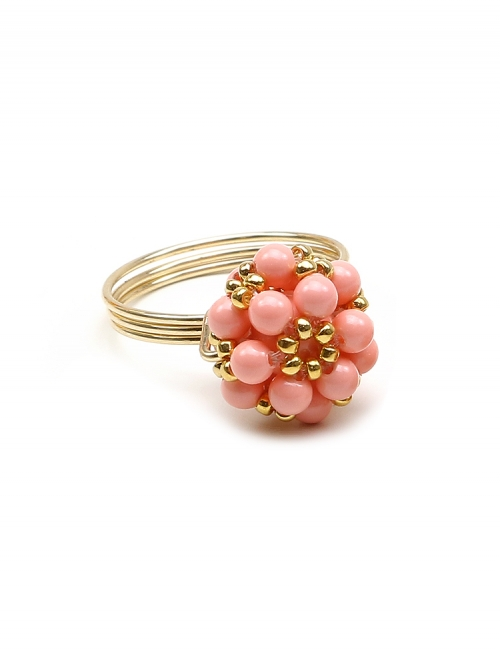 Ring by Ichiban - Daisies Pink Coral