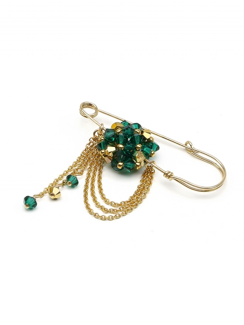 Emerald - brooch