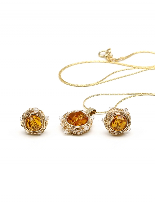 Set pendant and stud earrings by Ichiban - Sweet Topaz