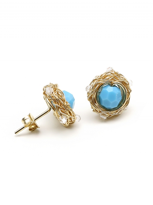 Sweet Turquoise- stud earrings